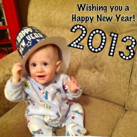 B wishes everyone a Happy 2013!