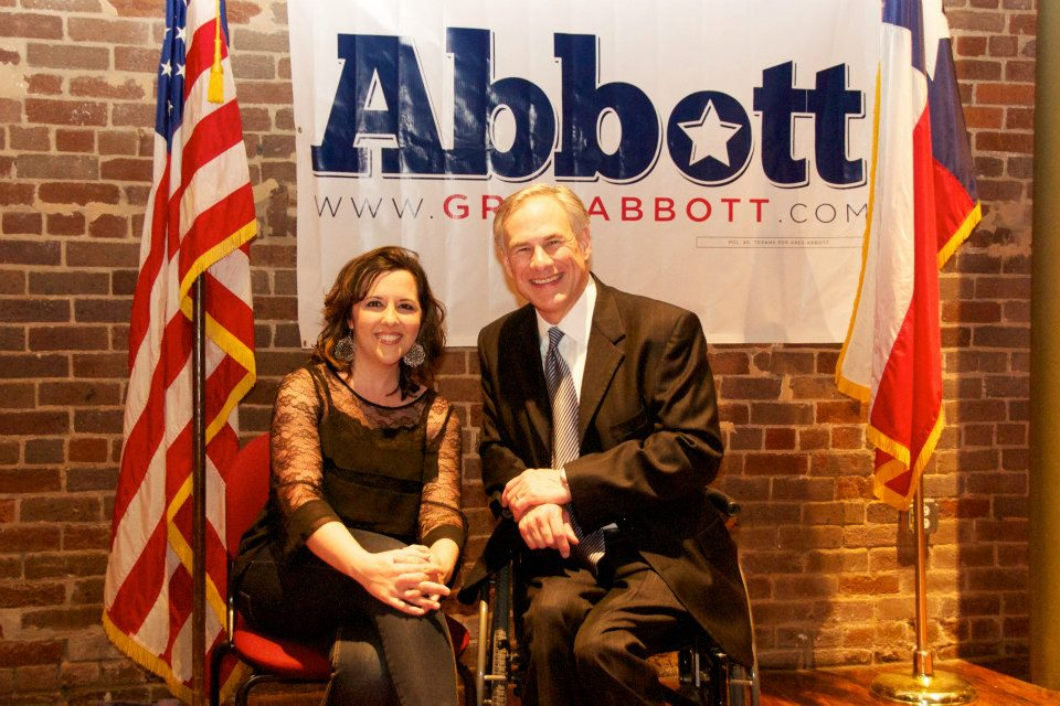 Gabbie Nolen and Texas Attorney General Greg Abbott